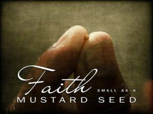 as small as a mustard seed