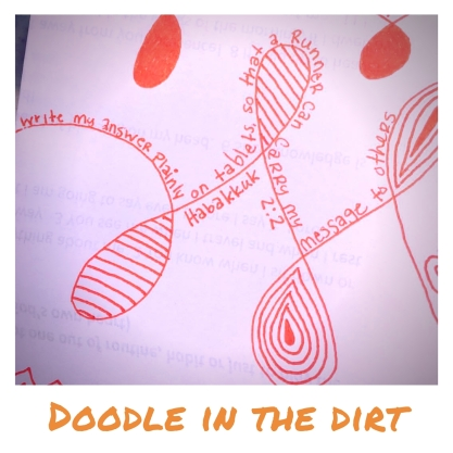 Doodle in the dirt